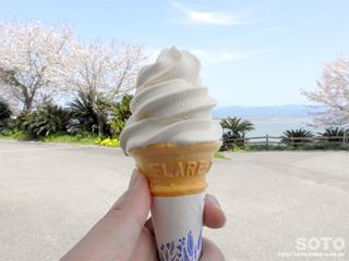 丸大豆醤油ソフトクリーム