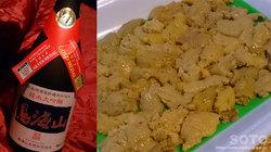 ウニと日本酒