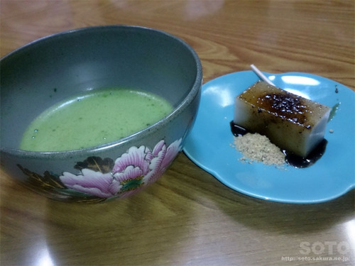 蕎麦羊羹と抹茶
