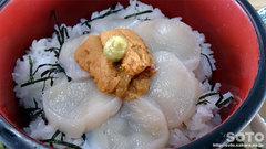 間宮堂(灯台丼/ホタテ&ウニ)