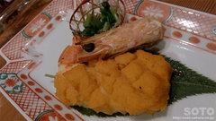 十楽(海老のウニバター焼き)