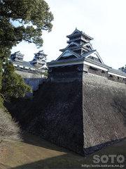 加藤神社から見た熊本城
