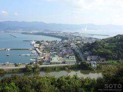 富岡城(狭間からの眺め)