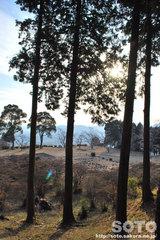 隈部氏館跡(隈部神社からの眺め)