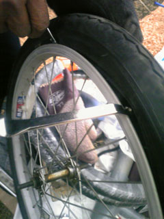 自転車のタイヤ交換(2)