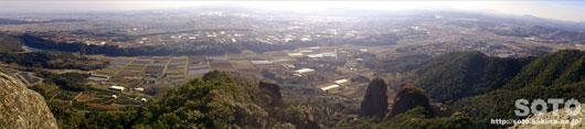 不動岩からの眺め/パノラマ