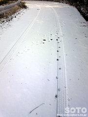 雪の上の足跡(2)