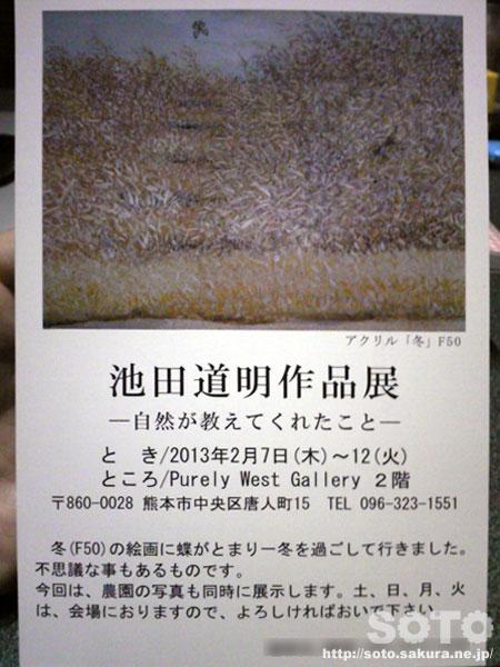 池田道明作品展2013