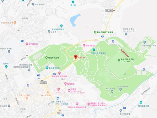 菊池公園周辺のGoogleMap