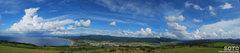 夜明けの塔からの眺め(パノラマ)
