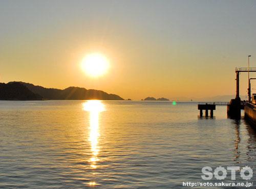 八幡浜の夕陽