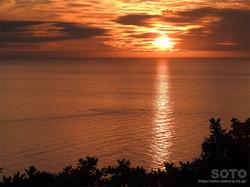 プユニ岬の夕陽(2)