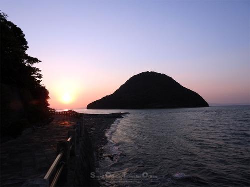 高杢島と夕陽