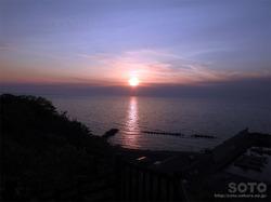 初山別の夕陽(1)