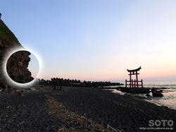 初山別の夕陽(3)