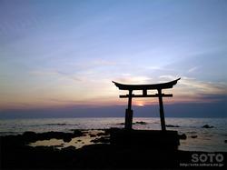 初山別の夕陽(6)