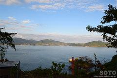 R45から高田松原を見下ろす