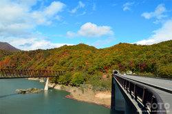 湯西川(鉄橋と赤夕大橋)