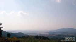 隈部氏館跡からの眺望