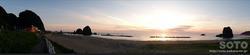 三本杉岩の夕陽(3)