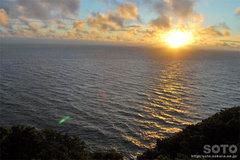 プユニ岬からの夕陽