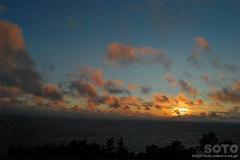 プユニ岬からの夕陽2