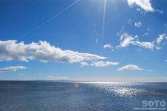 羅臼の海と国後島