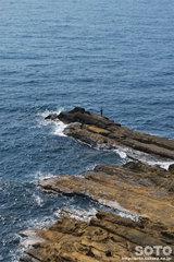 ヤセの断崖(釣り人)