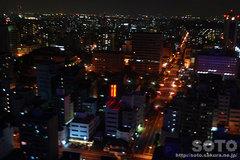 札幌プリンスホテルからの夜景