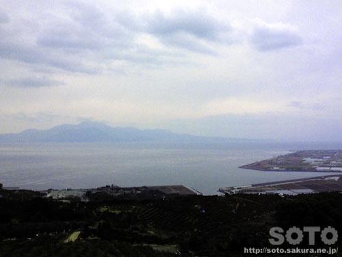 天水町から見た普賢岳