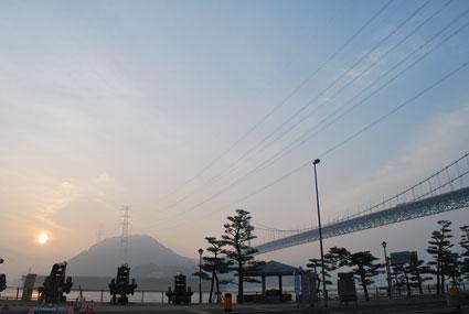 壇ノ浦の朝日
