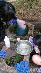藍染め体験(水洗い)