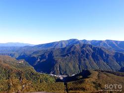 層雲峡ロープウェイ(屋上展望台からの眺め)