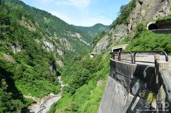 白山スーパー林道(渓谷を望む)