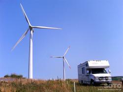 苫前の風車(2008/08/11)