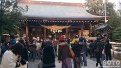 菊池神社豆まき(2)