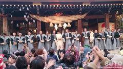 菊池神社豆まき(3)