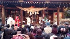 菊池神社豆まき(4)
