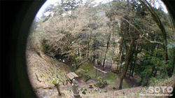 岩屋神社(本殿からの眺め)