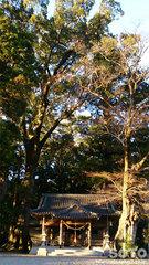 水屋神社(夕映え)