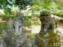 洞爺湖一周(洞爺八幡神社/狛犬)