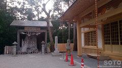 神明神社(拝殿 遷宮)