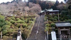 大津山阿蘇神社(拝殿への階段)