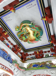 三峯神社(手水舎の天井)