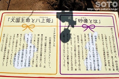 白兎神社(砂像 看板)