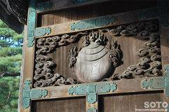 竹駒神社(門の彫刻)