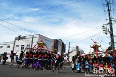 羽幌神社例大祭(練り合い・1)