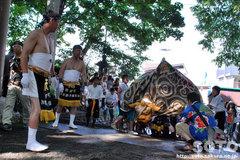 羽幌神社例大祭(鳥居前・獅子)