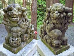 桜松公園(狛犬)