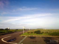 霧多布岬展望台駐車場